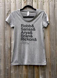 Jeu des tee chemise femme frères et sœurs Stark par FencingNArchery, $23.00