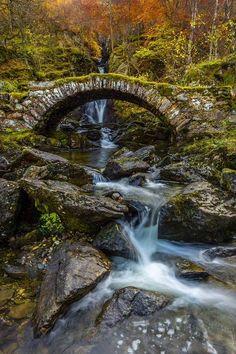 scotianostra: The Old Roman Bridge at Glen Lyon (Gaia Photography) — Landscape Art, Landscape Photography, Nature Photography, Beautiful Waterfalls, Beautiful Landscapes, Glen Lyon, Beautiful World, Beautiful Places, Old Bridges