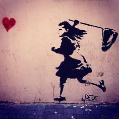 Street art - Love #graffiti #Banksy