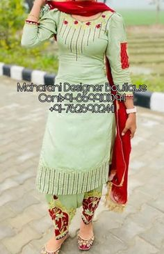 Ninecolours has the best collection of Salwar Suits for Wedding Online ✯ Wedding Suit Best Online Shopping Store. Designer Punjabi Suits Patiala, Patiala Suit Designs, Salwar Designs, Kurti Designs Party Wear, Pakistani Dress Design, Blouse Designs, Punjabi Suit Boutique, Punjabi Suits Designer Boutique, Boutique Suits