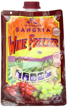 All natural Completely portable Easy to make and freeze Lt. Blender's Wine Freezer, Sangria, 9.7-Ounce Pouches (Pack of 3)