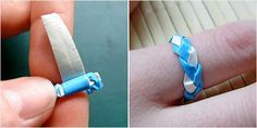 Tutorial: Braided Duct Tape Ring | 101 Duct Tape Crafts Please follow us @ http://www.pinterest.com/ducktapesale/