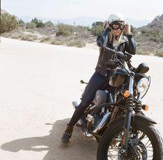 Harley Davidson Biker Girl - Women's Moto Exhibit by Lanakila MacNaughton (Women Who Ride)