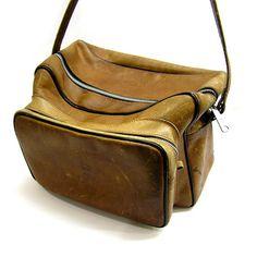 Vintage 1960s Perrin Leather Camera Bag by 42ndAvenueVintage