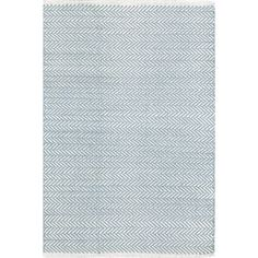 Herringbone Swedish Blue Woven Cotton Rug | Dash & Albert Curtain Rod Hardware, Finials For Curtain Rods, Herringbone Rug, Solid Rugs, Dash And Albert, Rug Sale, Rugs Online, Woven Rug, Blue Area Rugs