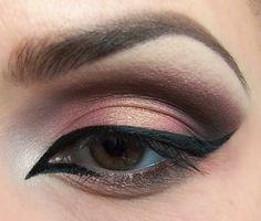 perfektes make up für braune augen