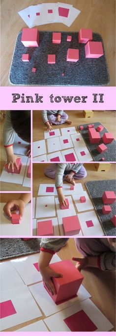 Montessori-pink tower extensions