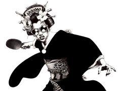 Bold and black illustrations by Shohei Otomo (Hakuchi)