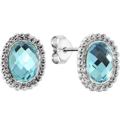 Aqua Retro Glamour Stud Earrings