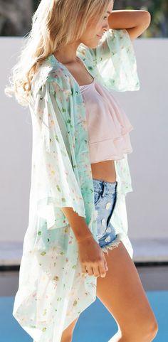 Mint kimono