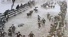 Fotos antiguas de los encierros de San Fermín  #Pamplona #Sanfermines