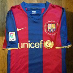 2007-2008 FC Barcelona Home Jersey // • Primera equipació del FC Barcelona per a…
