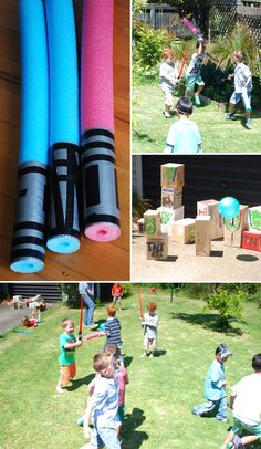 Angry Birds Star Wars Party- like the noodle light sabers