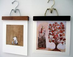 make your own frames - cute idea - this would be cool in the laundry room or for an easily changeable display for kid's art.