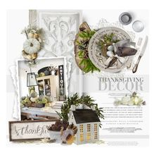 Thanksgiving Decor by giudittina on Polyvore featuring interior, interiors, interior design, home, home decor, interior decorating, Tag, Nearly Natural, Herend and Williams-Sonoma