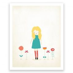Little One Garden - Art Print by Mara Girling : Printspace