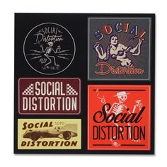 Official Social Distortion merch and music Music Love, My Music, Mike Ness, Sick Boy, Social Distortion, Rock Posters, Rock N Roll, Nerd, Sticker