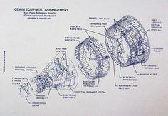 Gemini Capsule Exploded View Blueprint