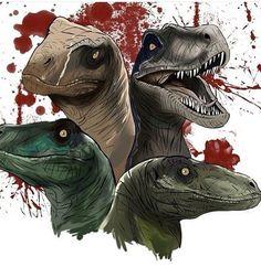 I love Jurassic World We are not chickens Jurassic Park Raptor, Jurassic Park Trilogy, Jurassic Park Poster, Blue Jurassic World, Jurassic World Fallen Kingdom, Jurrassic Park, Park Art, Dinosaur Drawing, Dinosaur Art