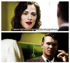 Agent Jack Thompson and Agent Peggy Carter | Their faces! They belong together!