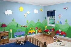 little boy transportation bedroom - Bing Images