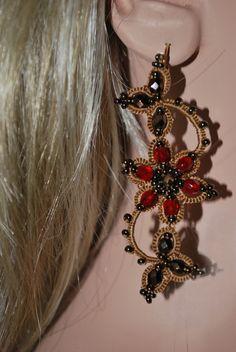 авторское украшение, украшение с камнями, бижутерия, купить, подарок, серьги