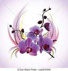 Resultado de imagen para dibujos de orquideas a color