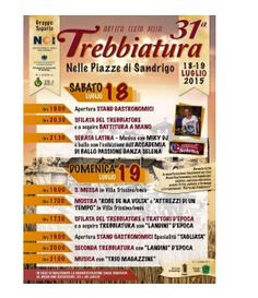 Festa della Trebbiatura - Wheat Threshing Festival July 18-19, 2015, in Sandrigo, Contrà Tugurio, about 9 miles north of Vicenza; food booths open at 7 p.m.; entertainment for children with dances and water games; vintage farm vehicles exhibit; live music every night starts at 9 p.m.