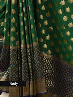 Green brocade Banarasi saree