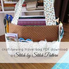 Sewing Project Travel Tote Bag - Free PDF Pattern from Stitch by Stitch