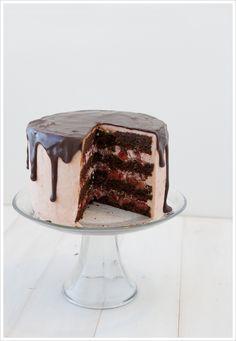 Strawberry + Chocolate Cake from Matchbox Kitchen