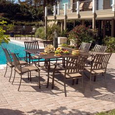 Best Have to have it Panama Jack Island Breeze Piece Slatted Patio Dining Set