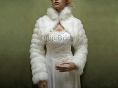 White faux fur jacket shrug bolero Wrap This is an beautiful White soft and high quality long sleeve faux fur bolero jacket. The fur is v Wedding Shrug, Bridal Bolero, Wedding Jacket, Wedding Gowns, Faux Fur Bolero, Lace Bolero, White Faux Fur Jacket, Faux Fur Wrap, Thing 1
