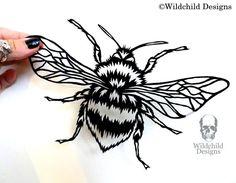 Bumblebee Scherenschnitt Bumble Bee Benus Bombus Vorlage für