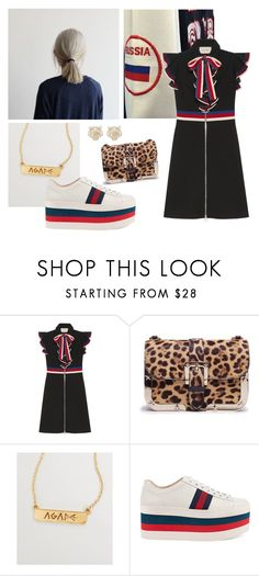 """""""Yuri Plisetsky"""" by area2002 on Polyvore featuring Gucci, RED Valentino, Jaeci and Kenzo"""
