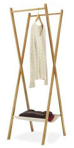 Whitmor Folding Bamboo Drying Laundry Rack