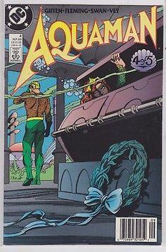 Aquaman #4 DC Comics 2nd series 1989 original printing near mint