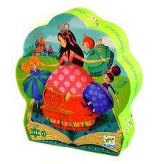 Puzzle 24 pièces : Silhouette : La belle au bois dormant - Djeco-07203