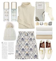 """Sweater n Hats"" by emcf3548 ❤ liked on Polyvore featuring Topshop, Matouk and Secret Collagen"