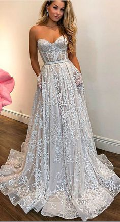 strapless long prom dress,sexy evening dress,charming wedding dress by Miss Zhu Bridal, $194.67 USD
