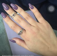 cute acrylic almond shaped nails. Creds to a woman from Yelp!