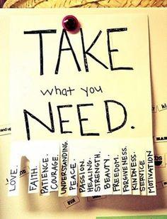 Toma lo que necesites para alegrar el día