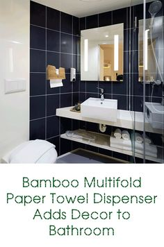 Love This Home Decor Idea Of A Bamboo Multifold Paper Towel Dispenser In  Our Home Office