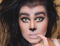 """Wolf (eyes, brows and nose; teased out """"werewolf"""" hair)"""