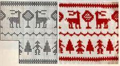 Зимние жаккардовые узоры для вязания: олени, снежинки и др. | Блог elisheva.ru