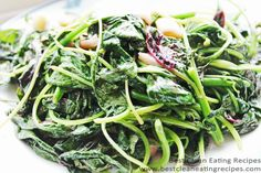 Clean Eating Recipe – Garlic-y Chinese Turnip Greens   Best Clean Eating Recipes   Clean Eating Diet Plan and Recipes