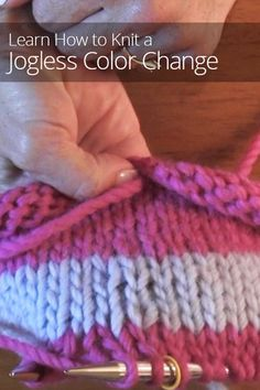 Are you having trouble knitting in the round? Learn how to make a smooth color change in circular knitting - known to the experts as a jogless color change.