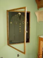Military Uniform Display Case Memorial by appletreewoodcrafts, $181.55