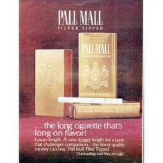 "Pall Mall Ads   1966 Pall Mall Cigarettes Ad ""the long cigarette"""