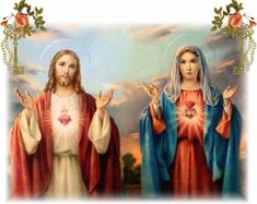 Immaculate Heart of Mary pray for us Sacred Heart of Jesus hear our prayers Catholic Beliefs, Catholic Prayers, Catholic Saints, Roman Catholic, Catholic Feast Days, Joseph, Jesus E Maria, Saint Thomas Aquinas, Bride Of Christ